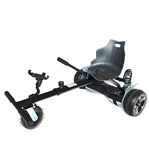 AUBESTKER Hoverboard Go Kart - Compatible with All UL 2272 Hover Board - Fits for Kids Adults - Adjustable Size Kart (No Include Hoverboard)