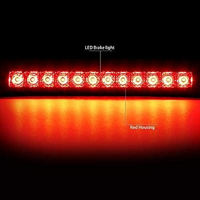 DNA MOTORING 3BL-NARM04-LED-RD Red 3D LED Bar 3rd Third Brake Lamp/Light: Automotive