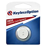 KeylessOption 2032 Battery Long Lasting 3v Lithium for Keyless Entry Remote Smart Key Fob Alarm Head Flip Keys CR2032