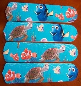 Ceiling Fan Designers 42SET-DIS-FN Finding Nemo 42 in. Ceiling Fan Blades Only