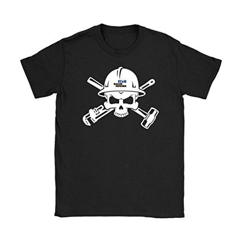 Awesome Emerchency Oilfield Shirts Baker Hughes Logo Skull In Helmet Womens T Shirt  Black  L