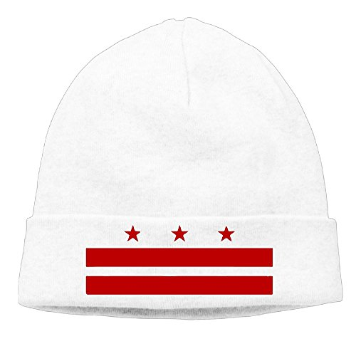 (Unisex Patriotic State Flag Of Washington D.C. Winter Beanie Hat Skull Cap )