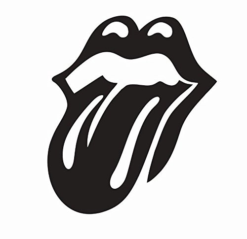 Crazy Discount Vinyl Sticker Decal The Rolling Stones Tongue Music for Windows Car Cell Phone Bumpers Laptop Wal, 4""