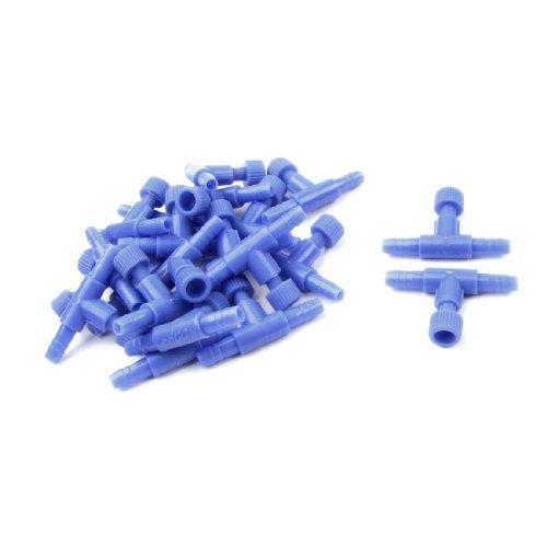 e plástico de UNA válvula de aire acuario Camino juego de conectores, Azul ()