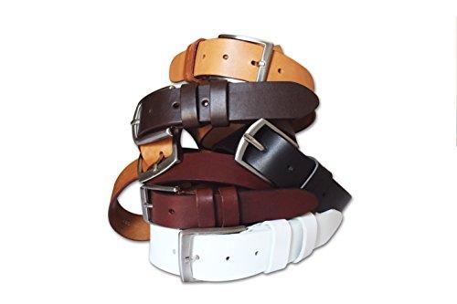 unisex cuoio resistente e in durevole groppone di Nero modello Cintura vitello classico 4fdxadn