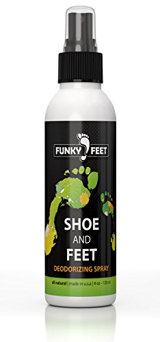 Funky Feet Shoe and Feet Deodorizing Foot Odor Spray - 100% Natural - Get Rid of Foot Odor with Deodorizer Odor Eliminator for Shoes & Skin