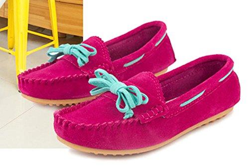 Faloaon Femmes Mode Léger Slip-on En Cuir Suédé Mocassins Chaussures Violet Foncé