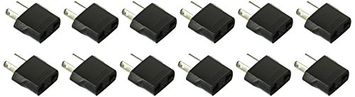 Ckitze 12-NZ American/European to Australian/New Zealand Outlet Plug Adapter - 12 - Outlet 12 Pack