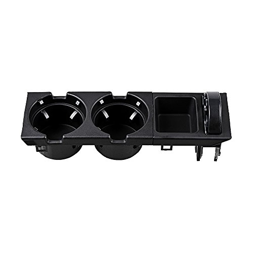 Black Front Center Console Drink Cup Holder 51168217953 + Storage Oddments Coin Tray Box 51168217957 for BMW 3 Series E46 1998-2005 Bmw Box