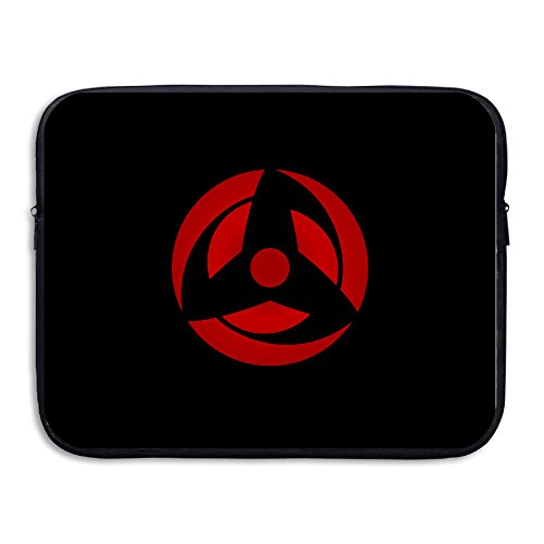 Invincible Comic Costume (VOLTE Sharingan Eyes Japanese Comic Naruto Shippuden Shock-Resistant Laptop Protective Bag Size 15 Inch)