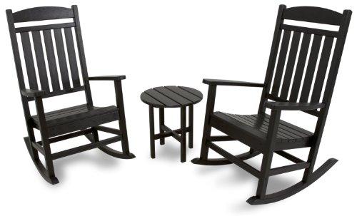 Ivy Terrace IVS112-1-BL Classics 3-Piece Rocker Seating Set,
