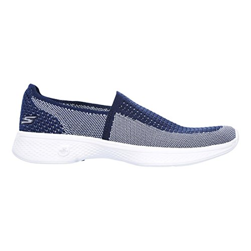 Go Ravish Skechers Womens Ladies Blanc Bleu Marine Lightweight 4 Breathable Shoes Walk nEXqqH1