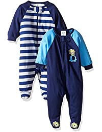 Baby Boys' 2 Pack Zip Front Sleep 'n Play