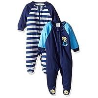 Gerber Baby Boys' 2 Pack Zip Front Sleep 'n Play, Safari, 3-6 Months