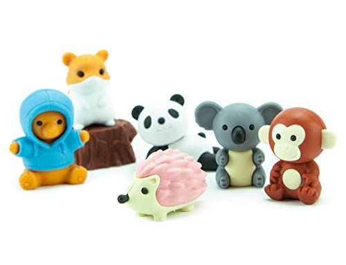 (Iwako Japanese Kawaii Animal Eraser Set)