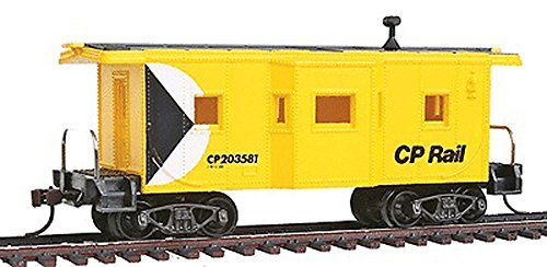 Model Power 98248 Ho Scale Bay Window Caboose with Knuckle Couplers CP Rail 203581 ()