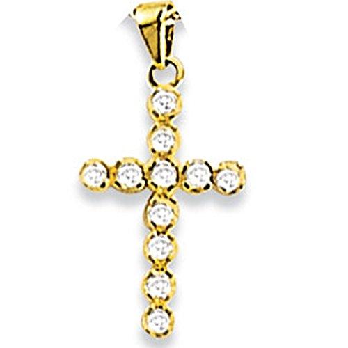SF Bijoux - Pendentif or jaune 750/1000e et diamant (0,21 carat)