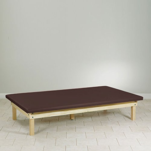 Upholstered top Mat Platform Treatment Table Wood frame 4 x 7 - Upholstered Platform Mat