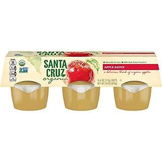 Santa Cruz Organic Apple Sauce, 6-4 Ounce Cups (Pack of 4)