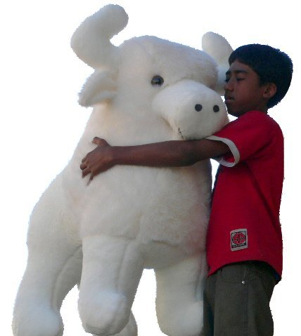American Made Giant Stuffed White Buffalo 44 Inch Sacred Native American Indian Plush Animal Almost 4 Feet Wide and 3 Feet Tall Huge Stuffed Animal (The Importance Of Bison To Native Cultures)
