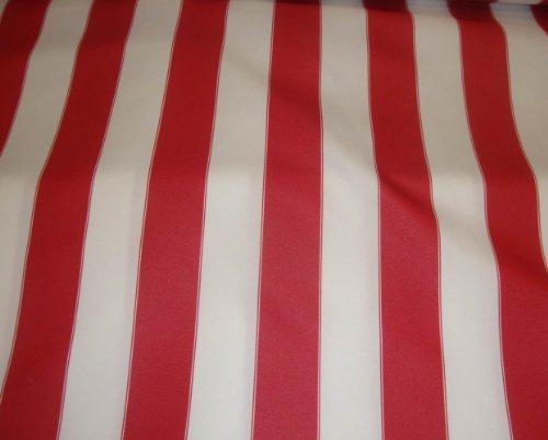 LUVFABRICS Red White Waterproof Outdoor Canvas Fabric 60