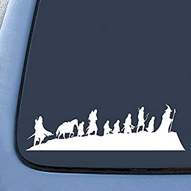LOTR Caravan Fellowship Sticker Decal Notebook Car Laptop 8  (White)
