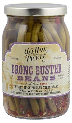 Mildly Spicy Pickled Green Beans (Pack of 16)