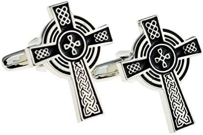 Ashton and Finch Manschettenkn/öpfe Keltisches Kreuz