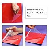 """Xlnt Engraving Double Color Sheet, Red/Bright White (12"""" x 24"""" x .060"""", 6 Pieces) for Interior"""