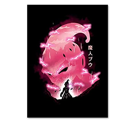 Majin Buu/'s Best Moments Dragon Ball Z 4 Row Timeline High Quality Canvas Poster