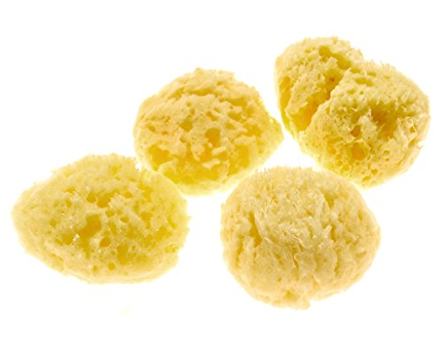(Evergreen Pet Supplies 4-Pack of Natural Hermit Crab Sea Sponges - All Natural Sponge for Crabs - Assists Safer Drinking, Provides Nutrients, Balances Tank Humidity)