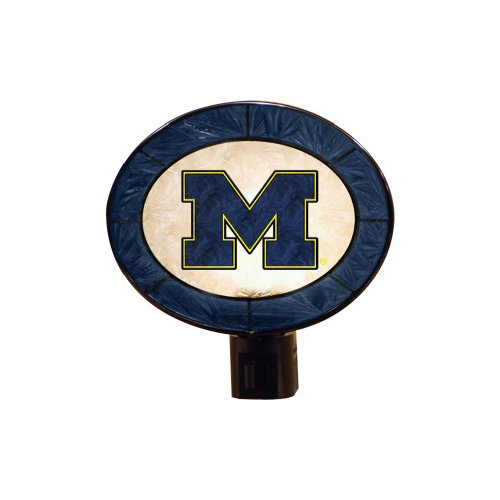 NCAA Michigan Art Glass Nightlight ()