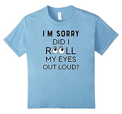 Did I Roll My Eyes Out Loud Shirt Funny Pajama PJ Women Tee