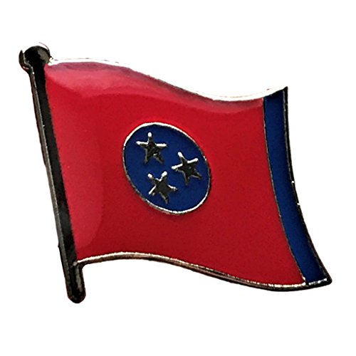 Backwoods Barnaby Tennessee (TN) Flag State Lapel - Pin Lapel Tennessee