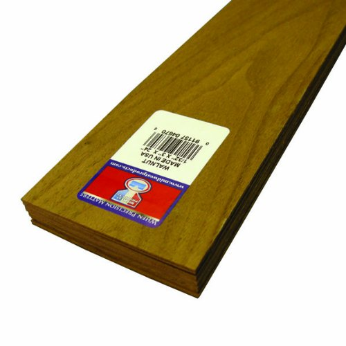 - Midwest Products 4670 Project Woods Genuine American Black Walnut Sheets, 24 x 3 x 0.03125 Inches