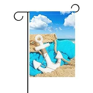 bennigiry playas Anchor decorativo Welcome Colorful Mulitcolor, diseño bandera de Jardín, multicolor, 28x40(in)