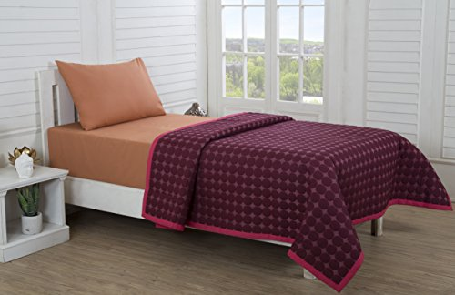Maspar By Inhouse Solid Shanil Red 1 Baby Quilt