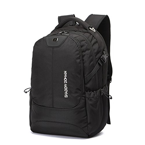 Laptop Backpack, Water Resistant Polyester School Bookbag for College Travel Backpacks for Laptop and Notebook (17 Inch 01- Black 42L) (17 Inch 01 - Black 42L, Black) (17 Inch 001 - Black 42L, Black)