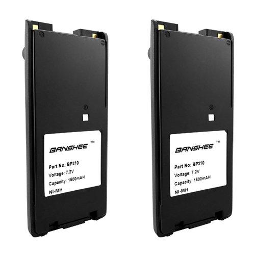 2 BP-209 BP-210 BP-222 Battery for ICOM F3GT F3GS F4GT F4GS F11S F12S F21S F22S