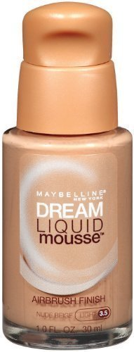 Maybelline New York Dream Liquid Mousse Foundation, Nude Beige Light 3.5, 1 Fluid Ounce (Pack of 2) by Maybelline