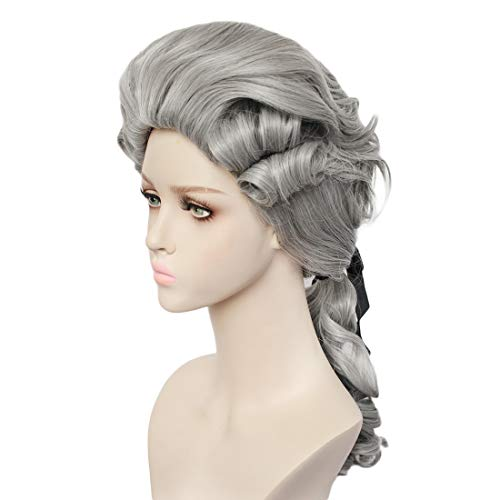 Jackie Kennedy Fancy Dress Costumes - JoneTing Gray Cosplay Wig Grey Synthetic