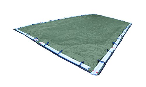 (Pool Mate 412545R Extreme-Mesh Green Mesh Winter Pool Cover for In-Ground Swimming Pools, 25 x 45-ft. In-Ground Pool)