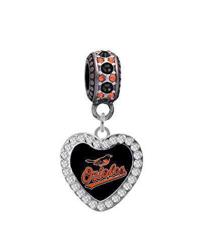 Orioles Baltimore Charm - Final Touch Gifts Baltimore Orioles Crystal Heart Charm