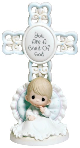 Precious Moments You Are A Child Of God Bisque Porcelain Cross -