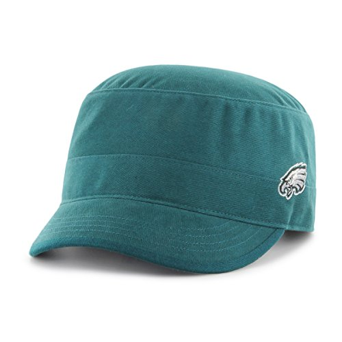 NFL Philadelphia Eagles Women's Shipmate OTS Cadet Military-Style Adjustable Hat, Pacific Green, - Pacific Military Hat