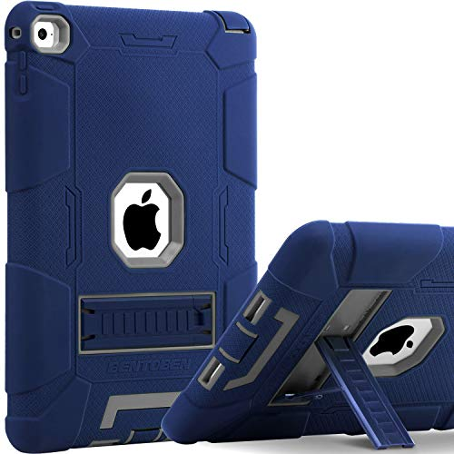 BENTOBEN Case for iPad Air 2, [Hybrid Shockproof Case] with Kickstand Rugged Triple-Layer Shock Resistant Drop Proof Protective Case Cover for iPad Air 2 (A1566 A1567) 2014 Released, Navy (Best Shockproof Cases For Ipad Airs)