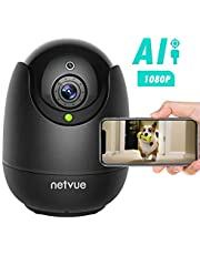 $35 » Dog Camera-1080P FHD Pet Camera with Phone App, Pan/Tilt/Zoom Puppy Camera with 2-Way Audio, AI Human Detection, Night Vision Cloud Storage/TF Card Work with Alexa