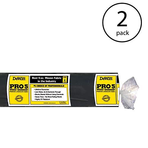 DeWitt P3 3 x 250-Foot 5-Ounce Pro 5 Weed Barrier Fabric (2 Pack)