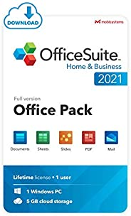 OfficeSuite Home & Business 2021 - Lifetime License - Documents, Sheets, Slides, PDF, Mail & Calendar
