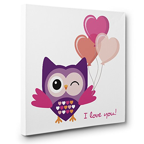 I Love You Owl CANVAS Wall Art Home Décor by Paper Blast